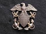 WWII United States Navy Officer Cap Badge